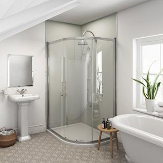 Multipanel Heritage Faversham Matte unlipped shower wall panel 2400 x 1200