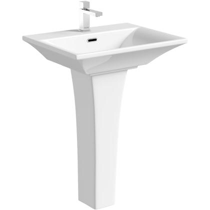 Mode Austin 1 tap hole full pedestal basin 600mm