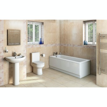Oakley bathroom set with straight bath suite
