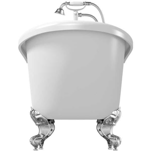 The Bath Co.Winchesterroll top bath with ball and claw feet offer pack