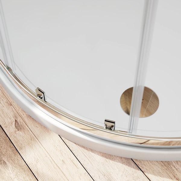 6mm sliding quadrant shower enclosure