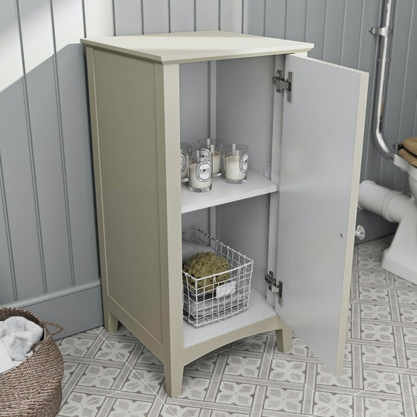 The Bath Co. Camberley satin ivory storage unit