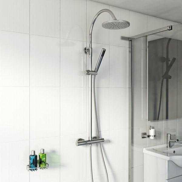 Aria Round Head Shower Riser System
