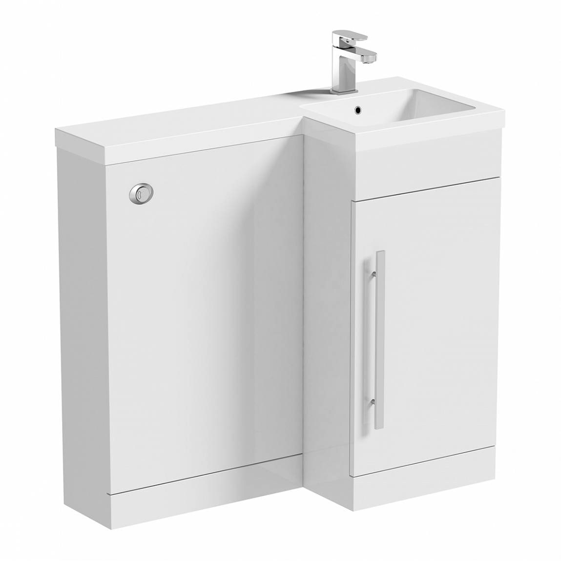 Orchard MySpace white right handed unit including concealed cistern