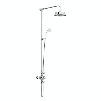 Winchester rain can dual valve riser shower system
