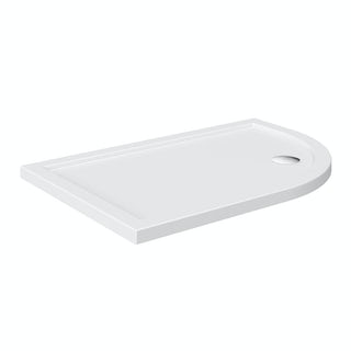 Offset Quadrant Right Handed Stone Shower Tray