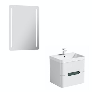 Mode Ellis select slate 600 wall hung unit and mirror offer