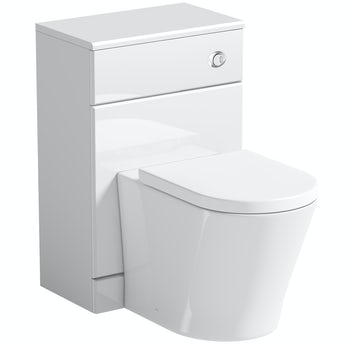 Orchard Eden white slimline back to wall unit with Mode Arte toilet
