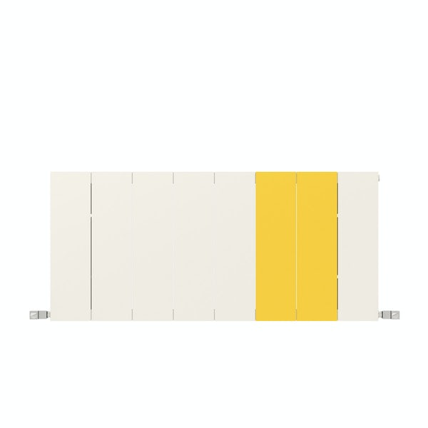 Neo soft white and zinc yellow horizontal radiator 545 x 1200