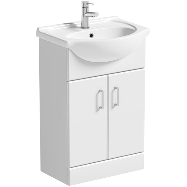 Orchard Eden complete right handed shower bath suite with taps, shower and wastes