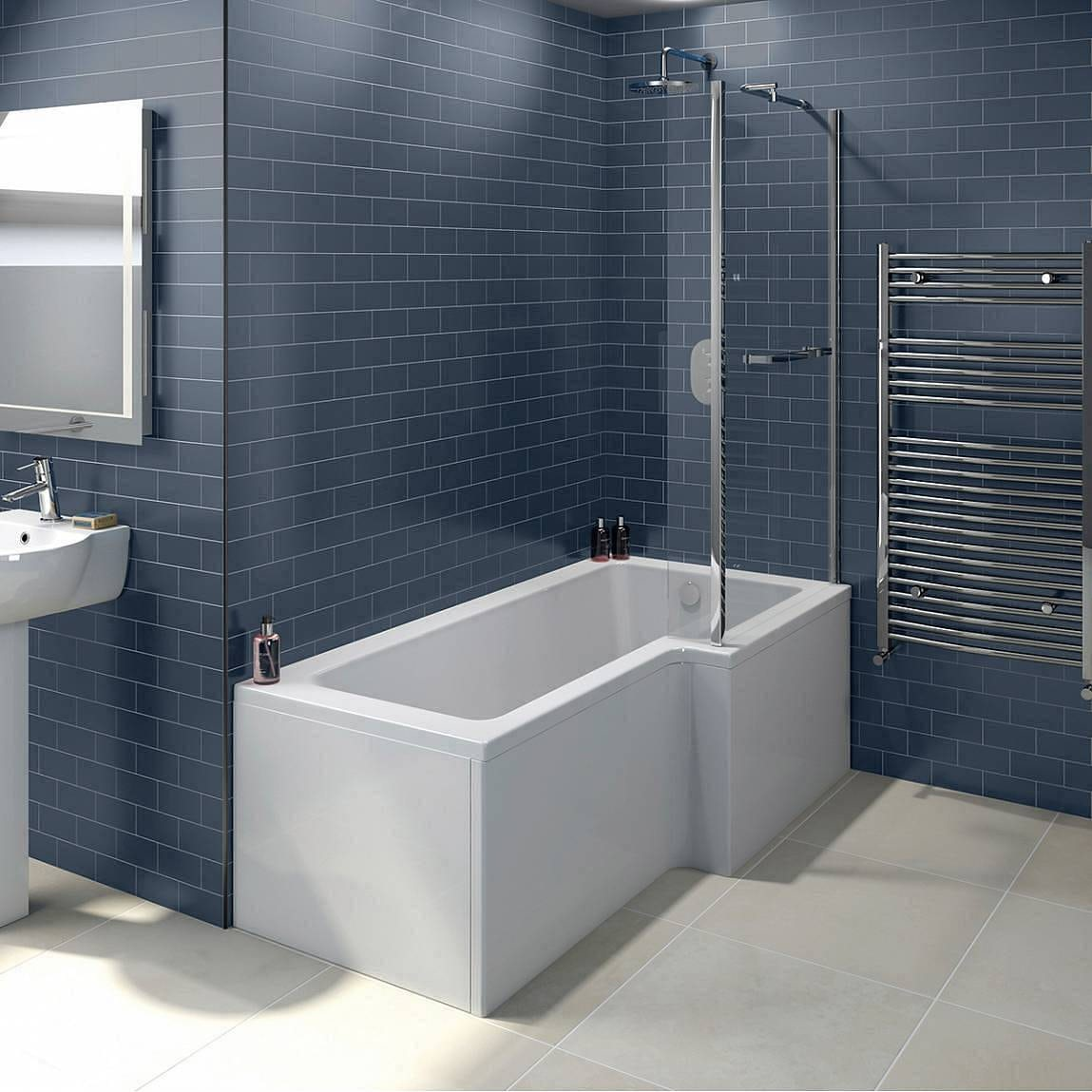 Boston Shower Bath 1700 x 850 RH inc. Screen & Towel Rail