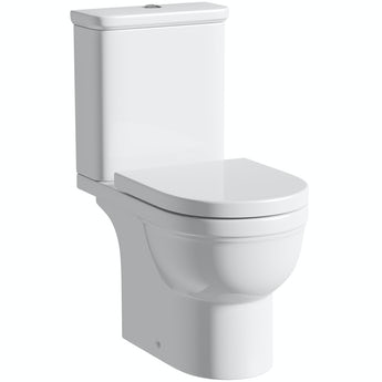 Deco close coupled toilet without toilet seat