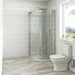 Mode Harrison 8mm easy clean quadrant shower enclosure 800 x 800