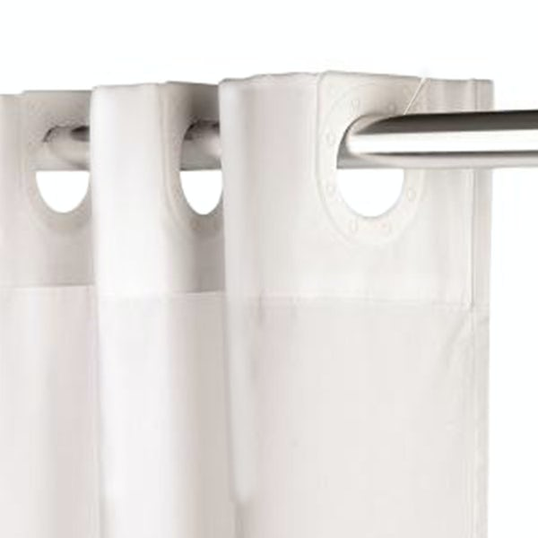 Croydex white textile hook n hang shower curtain