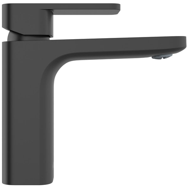 Mode Spencer square black basin mixer tap offer pack