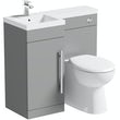 Orchard MySpace grey left handed combination unit with Clarity toilet