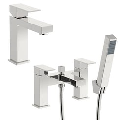 Richmond basin and bath shower mixer tap pack