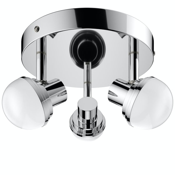 Forum Milan 3 light round bathroom ceiling spot light