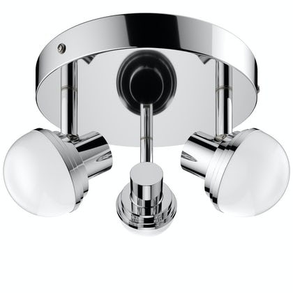 Forum Milan 3 light round bathroom ceiling spot light
