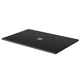 Mode black slate effect rectangle stone shower tray 1200 x 800