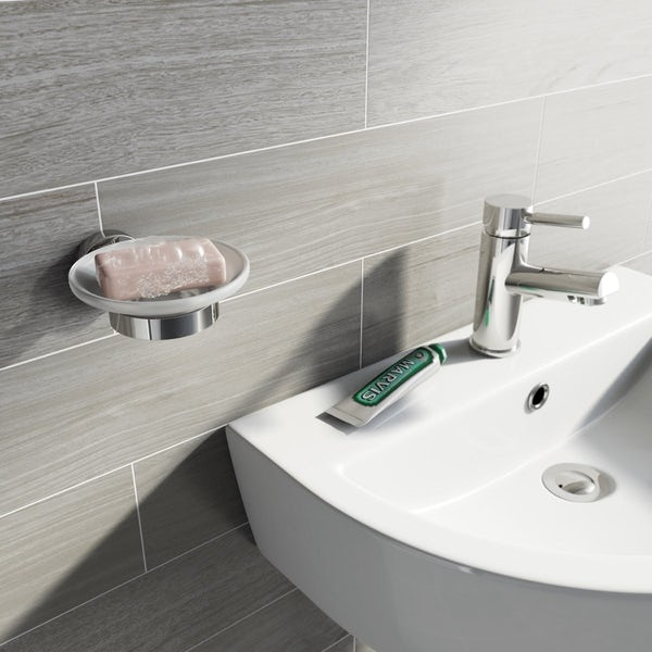 Orchard Wharfe round master bathroom 6 piece accessory set
