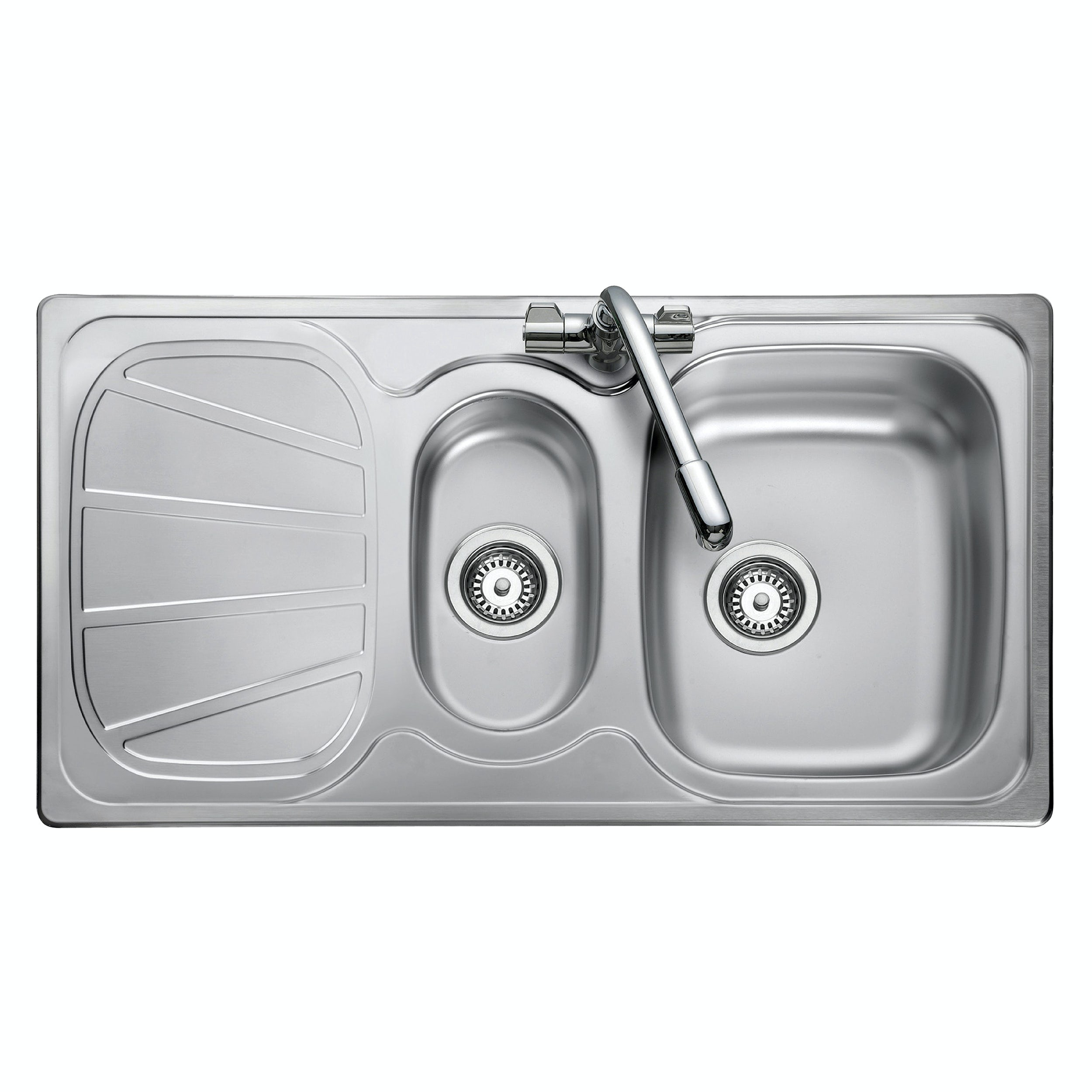 Rangemaster Baltimore 1.5 bowl reversible kitchen sink with waste kit