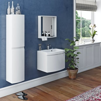 Mode Harrison snow furniture set with wall hung vanity unit 600mm