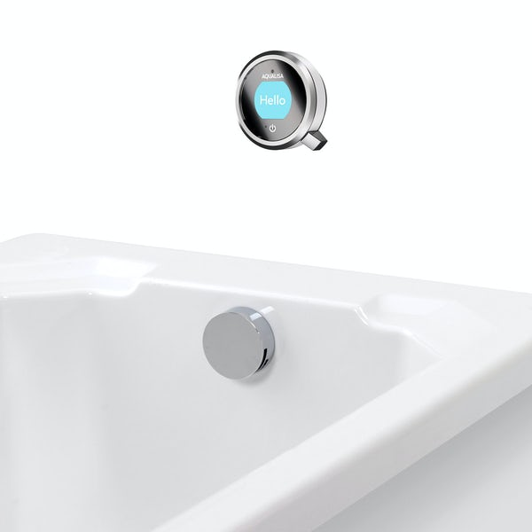 Aqualisa Q concealed digital shower pumped with bath filler