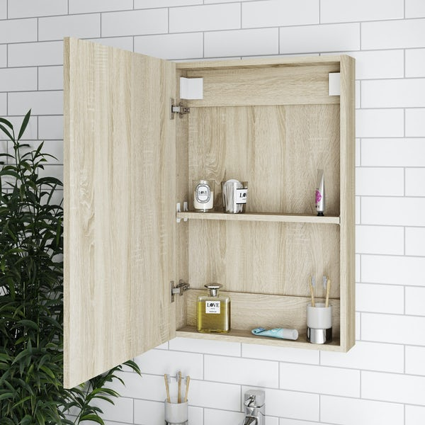 Orchard Wye oak mirror cabinet