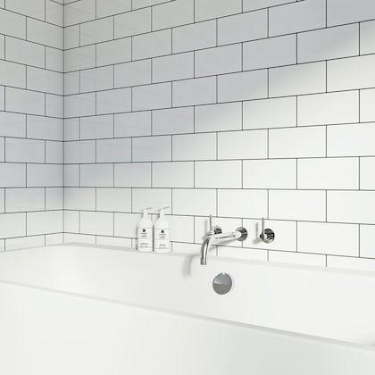 British Ceramic Tile Metro flat white gloss tile 100mm x 200mm