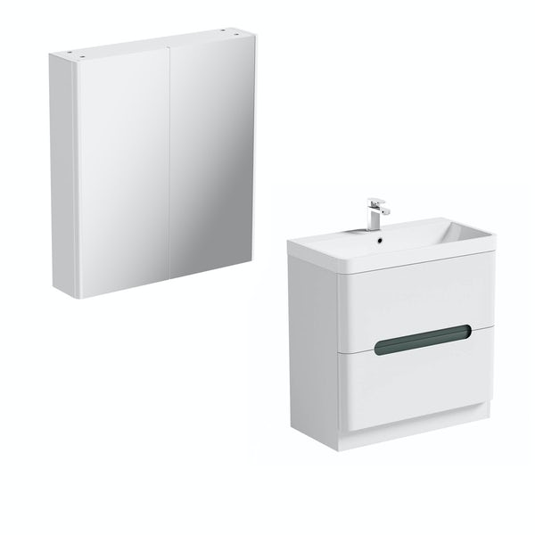 Mode Ellis slate vanity unit 800mm and mirror cabinet offer
