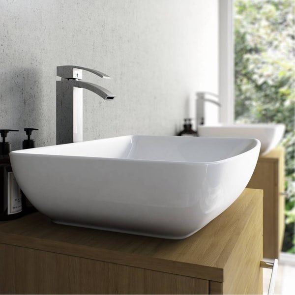 Wye High Rise Basin Mixer