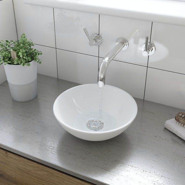 Tahoe countertop basin with waste