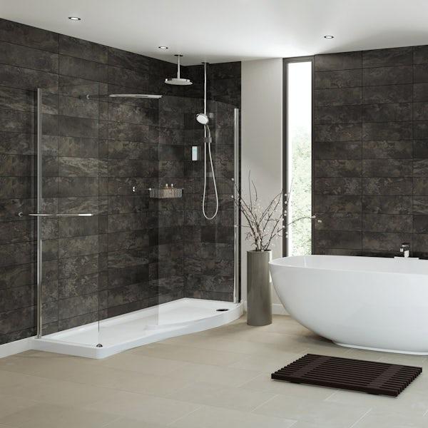 Mira Vision dual ceiling fed digital shower pumped