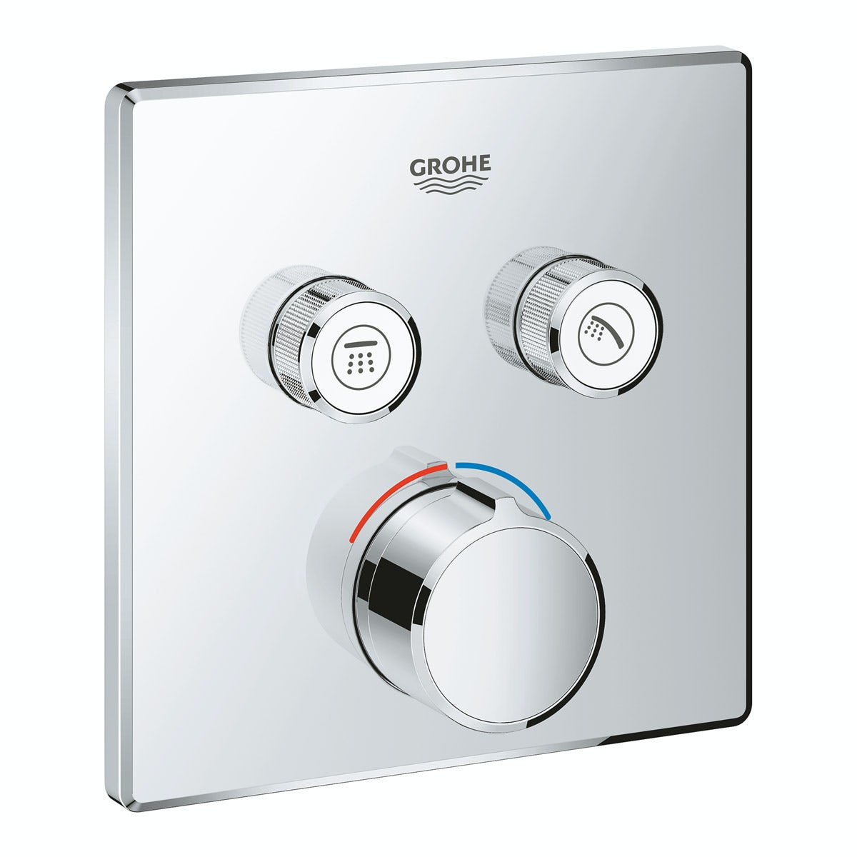 Grohe SmartControl square concealed 2 way shower valve trimset