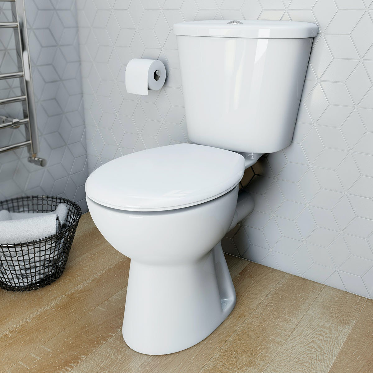 Clarity Close Coupled Toilet With Soft Close Seat