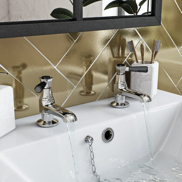 The Bath Co. Beaumont lever basin pillar and bath shower mixer tap pack