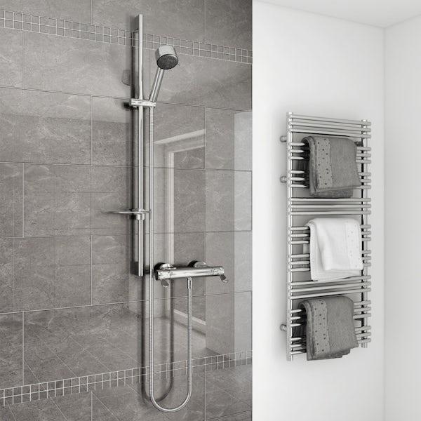 AKW Arka thermostatic mixer shower set