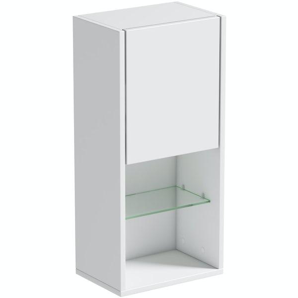 Mode Burton white wall storage unit 330mm