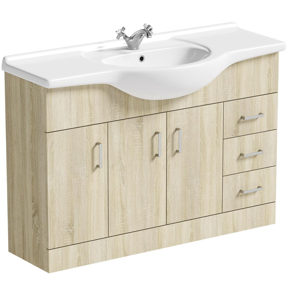 Orchard Eden oak vanity unit and basin 1200mm