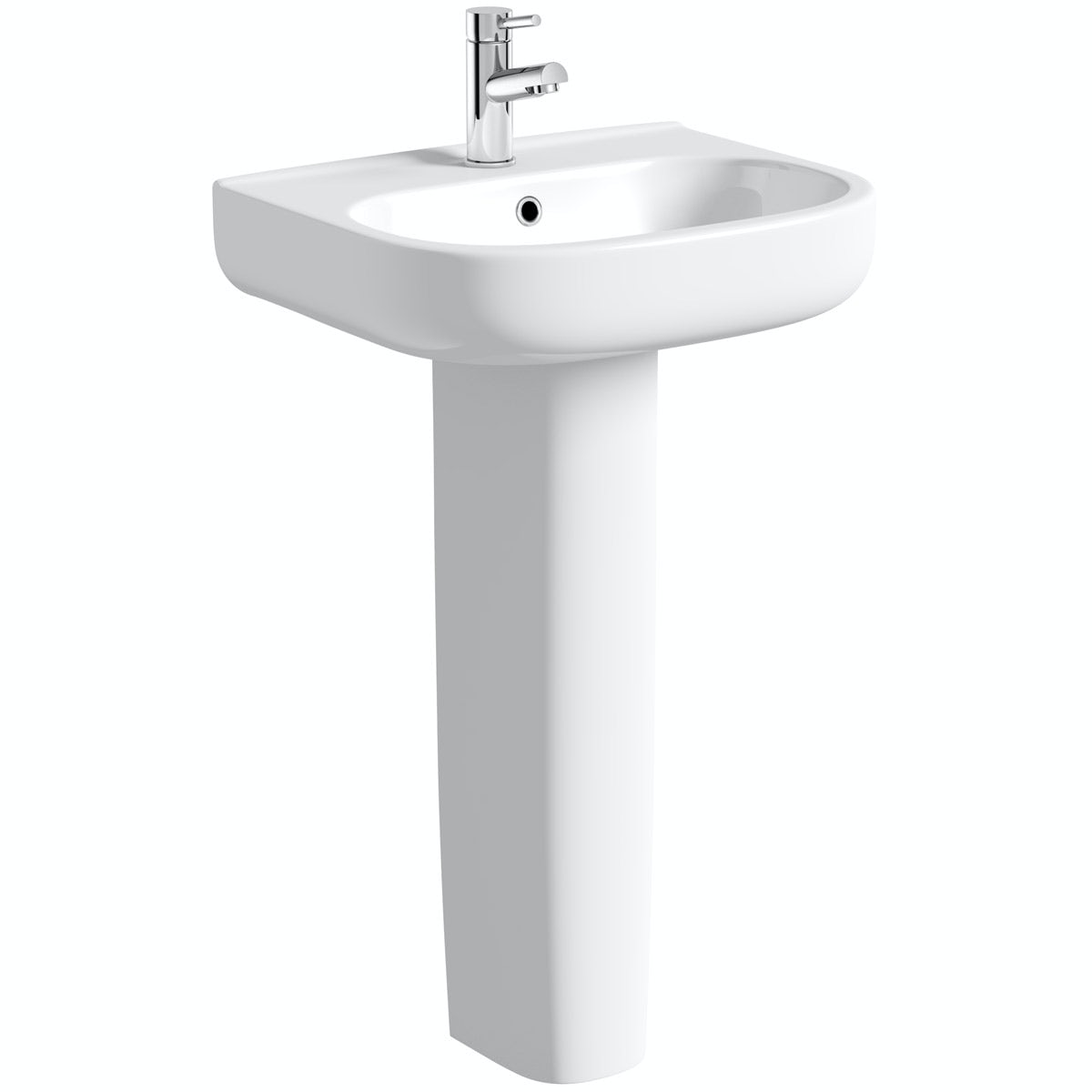 Orchard Lune full pedestal basin 550mm with waste