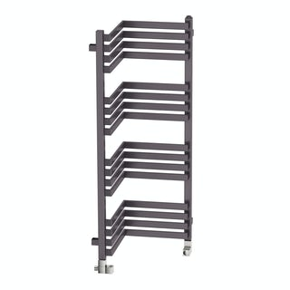 Incorner modern grey heated towel rail 1005 x 350
