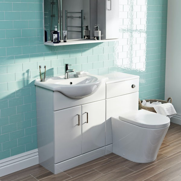 Eden white 1140 combination with Mode Arte back to wall toilet