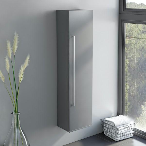 Orchard Derwent grey tall storage cabinet
