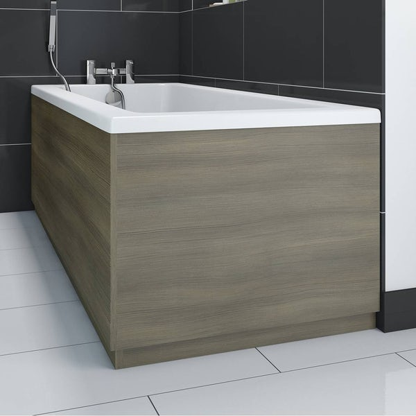 Drift Walnut Wooden Bath End Panel 750