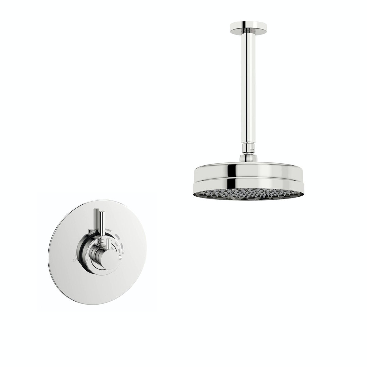 Mode Harrison concealed thermostatic shower valve with ceiling shower set