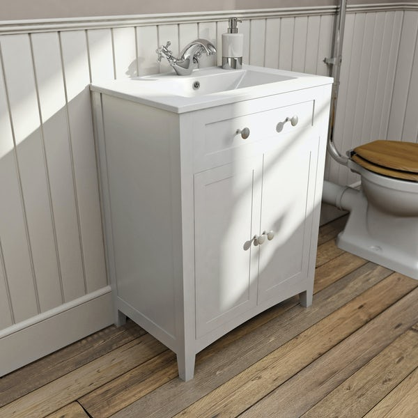 Camberley White 600 Door Unit & Basin