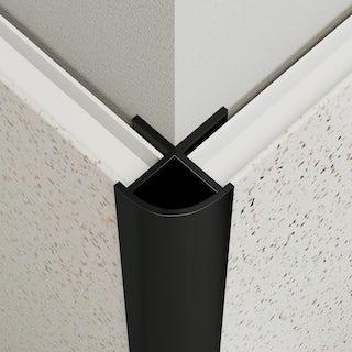 Multipanel Economy type W black external corner profile