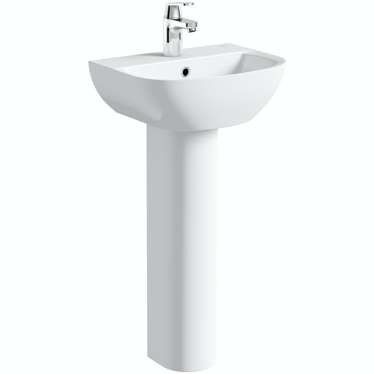 Grohe Bau 1 tap hole full pedestal basin 450mm