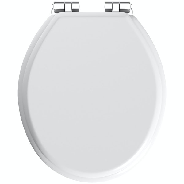 wooden white toilet seat. The Bath Co  Traditional White Engineered Wood Toilet Seat With Top Fixing Soft Close Hinge